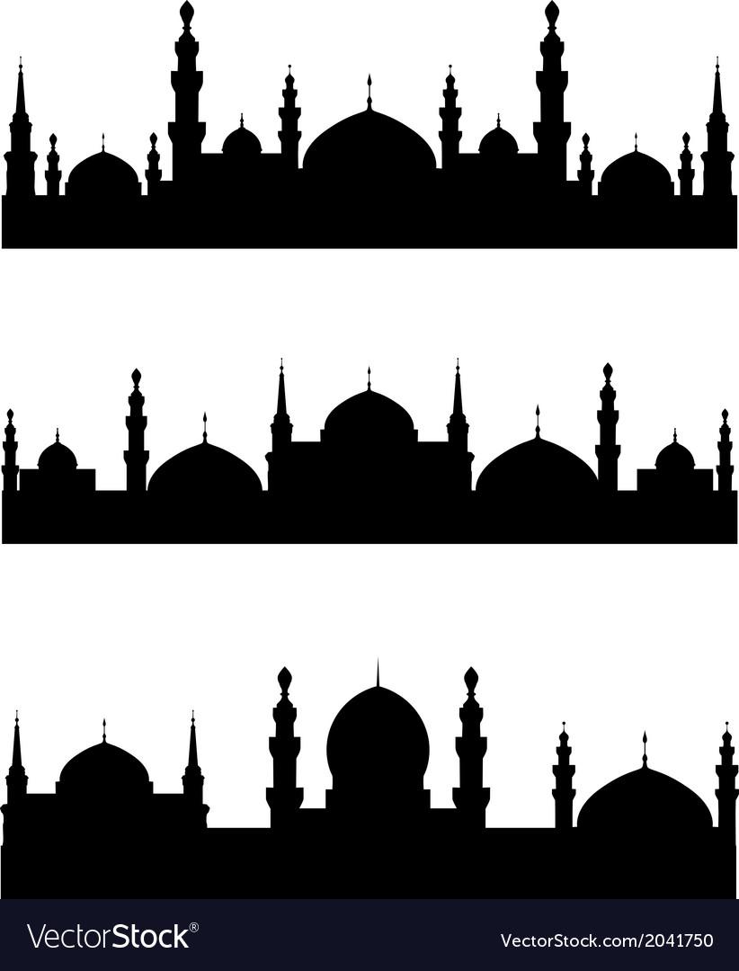 Islamic city vector | Price: 1 Credit (USD $1)
