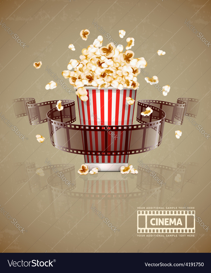 Jumping popcorn and movie vector | Price: 3 Credit (USD $3)
