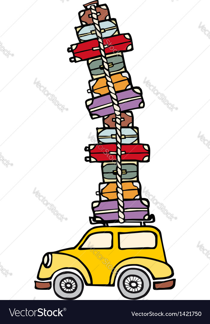 Lets go for fun a car ready for vacations vector | Price: 1 Credit (USD $1)