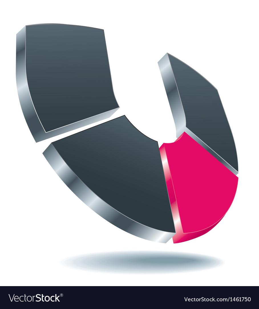 Logo u gray vector   Price: 1 Credit (USD $1)