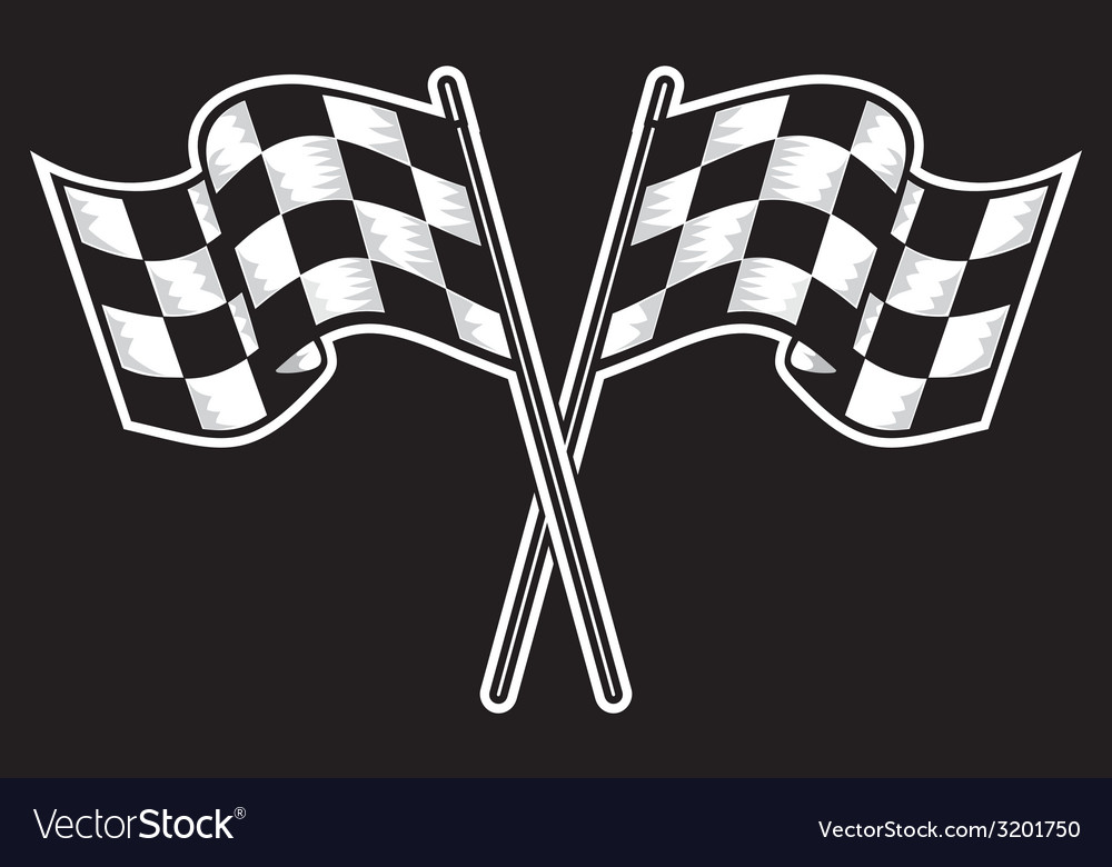 Racing flag dve kontrast vector | Price: 1 Credit (USD $1)