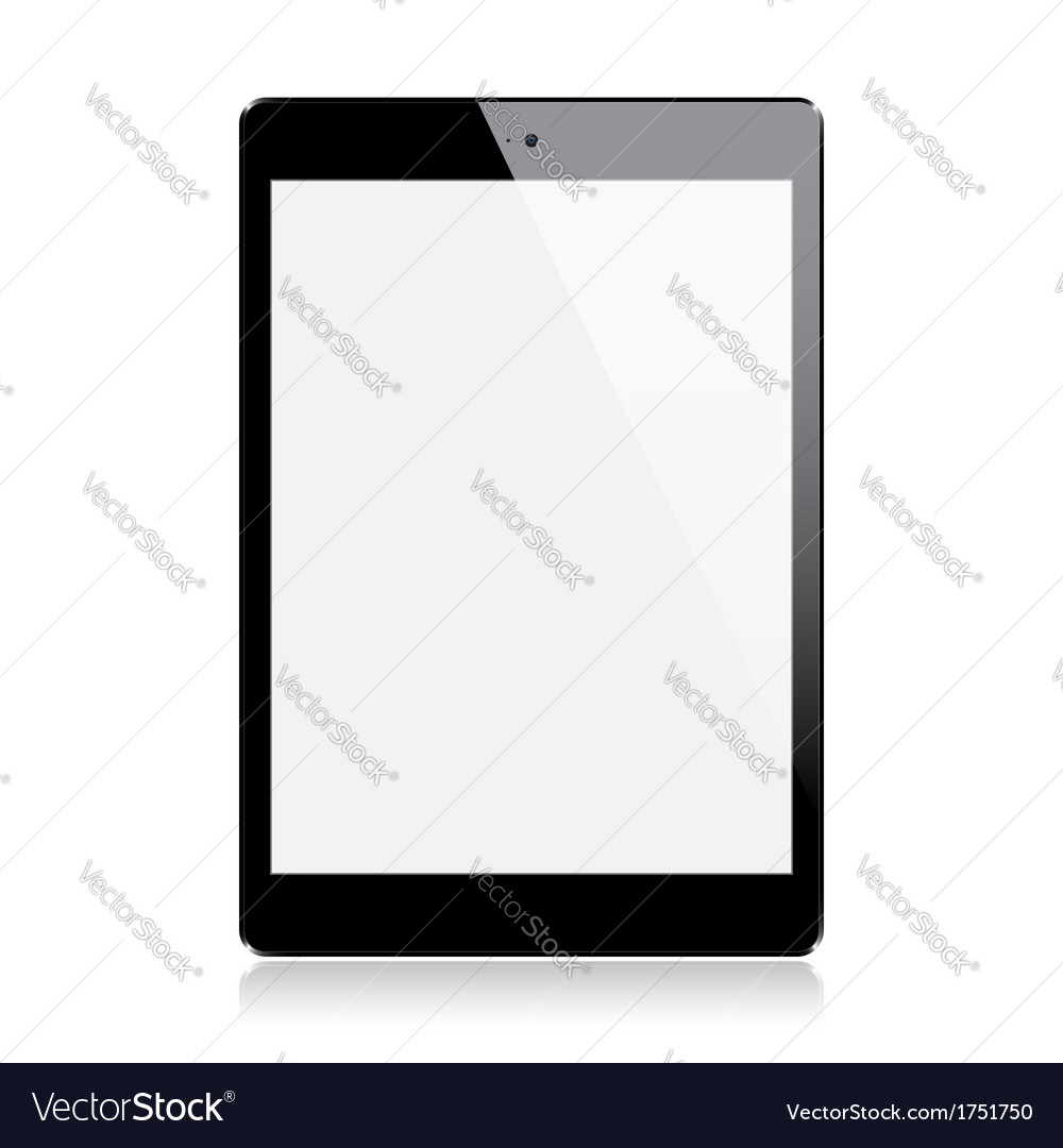 Realistic tablet vector | Price: 3 Credit (USD $3)