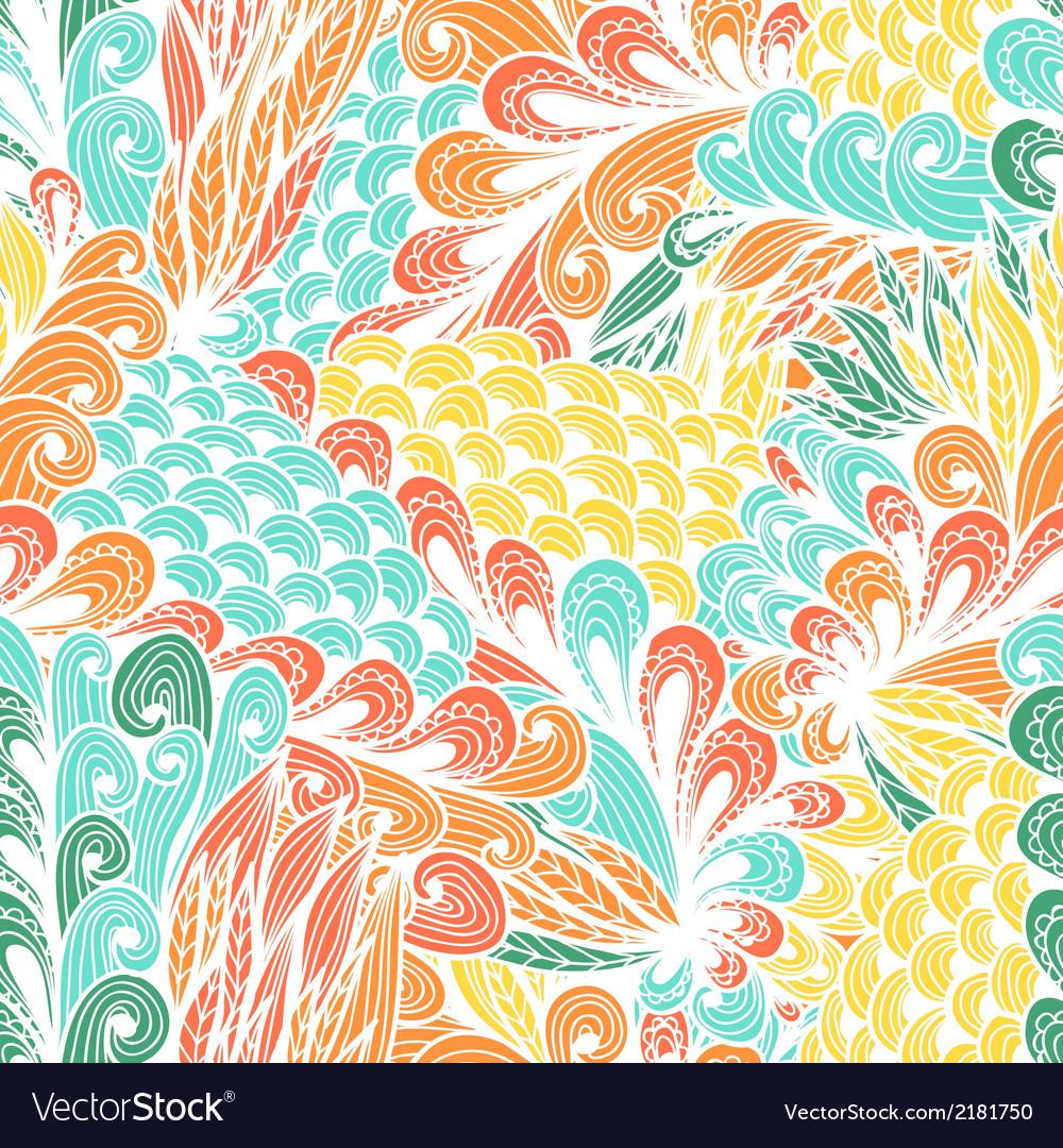 Seamless floral vintage pattern vector | Price: 1 Credit (USD $1)