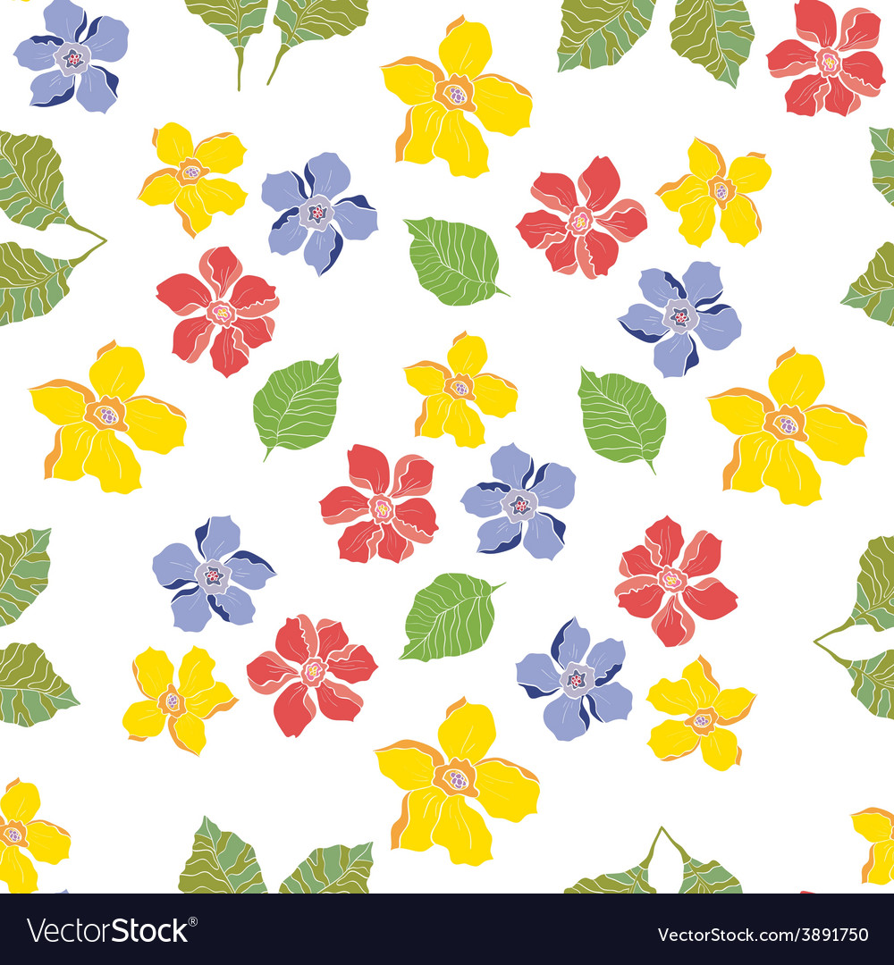 Seamless pattern floral daisy vector | Price: 1 Credit (USD $1)
