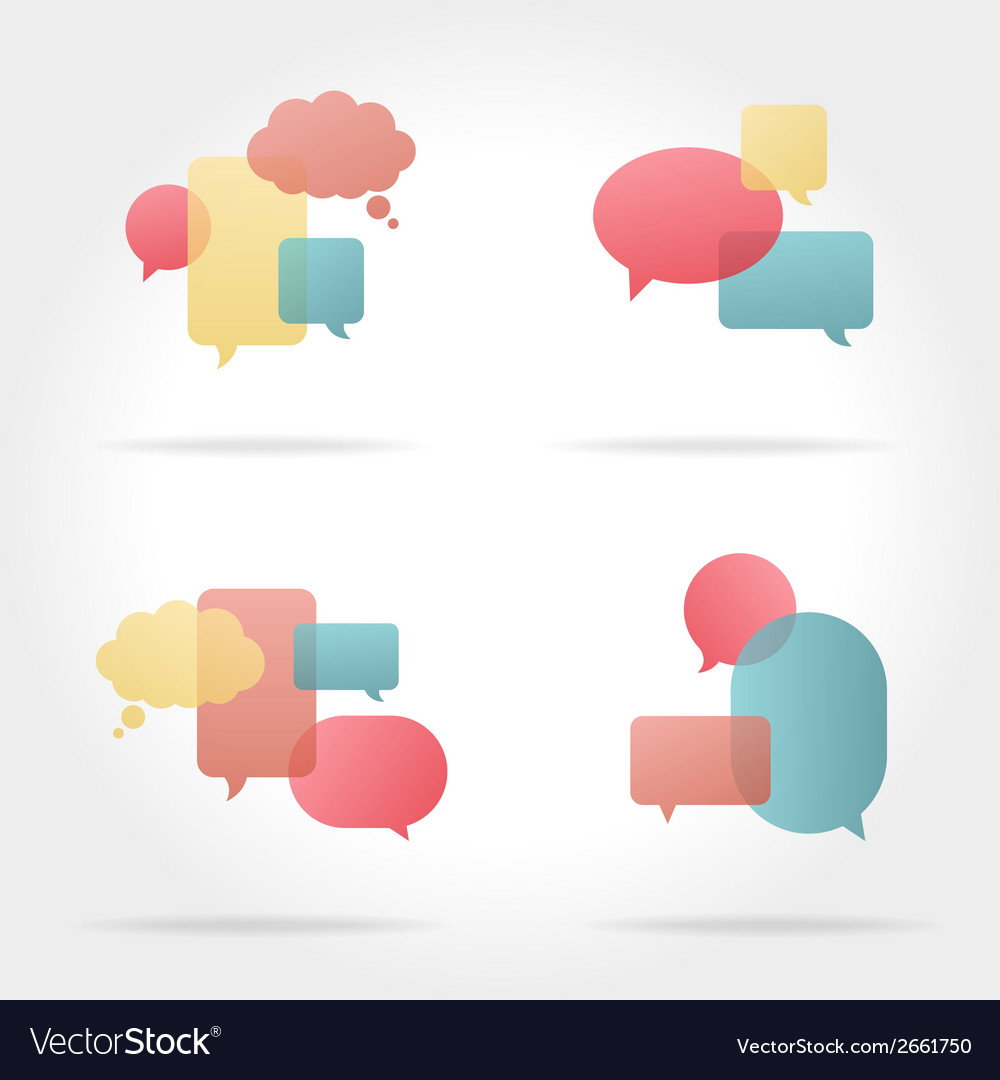 Set of colorful speech bubbles vector | Price: 1 Credit (USD $1)