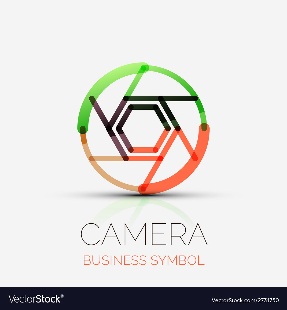 Shutter icon company logo business symbol concept vector | Price: 1 Credit (USD $1)