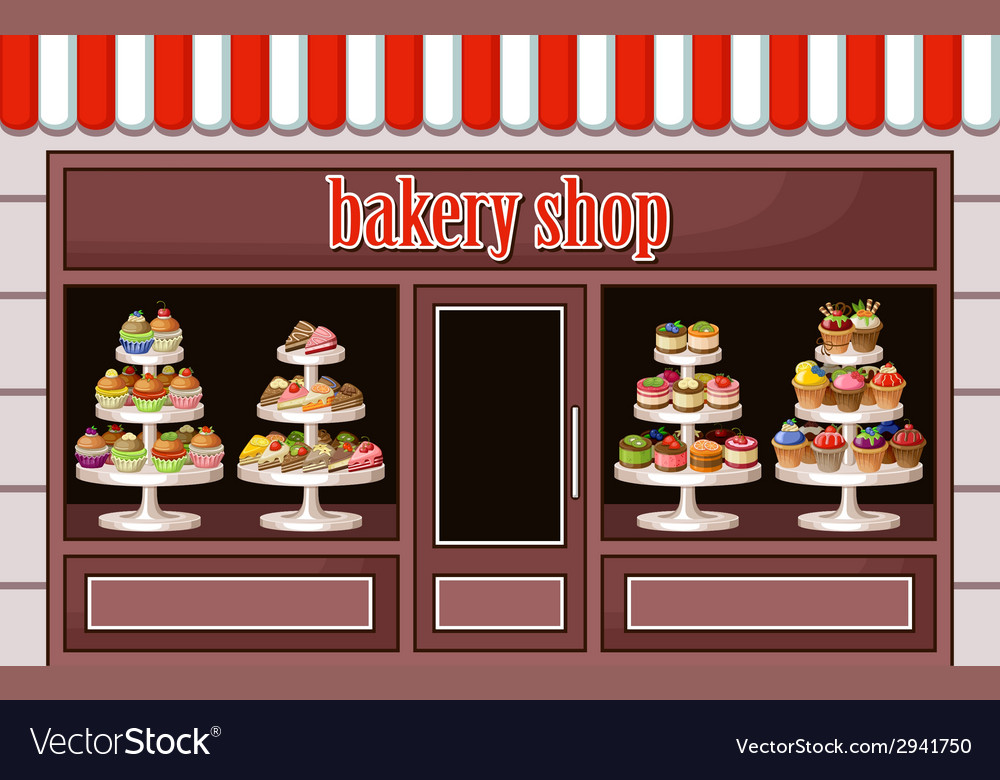 Store of sweets and bakery vector | Price: 1 Credit (USD $1)