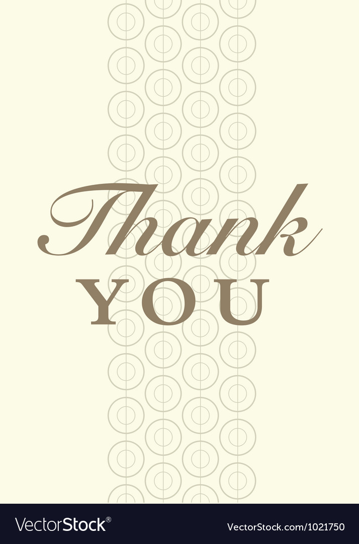 Thank you card vector   Price: 1 Credit (USD $1)