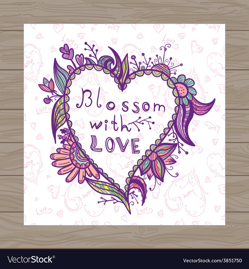 Valentine card with heart shape vector | Price: 1 Credit (USD $1)