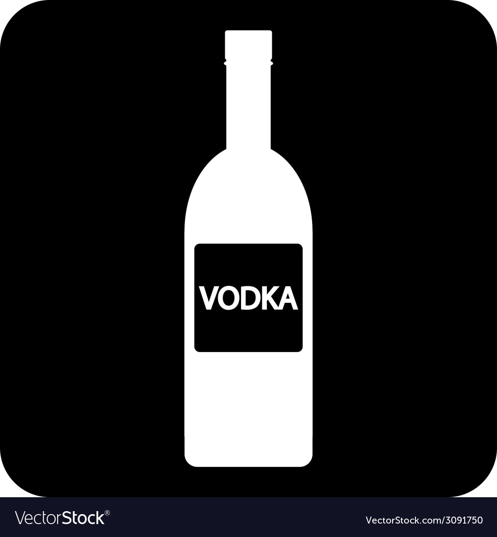 Vodka bottle symbol button vector | Price: 1 Credit (USD $1)