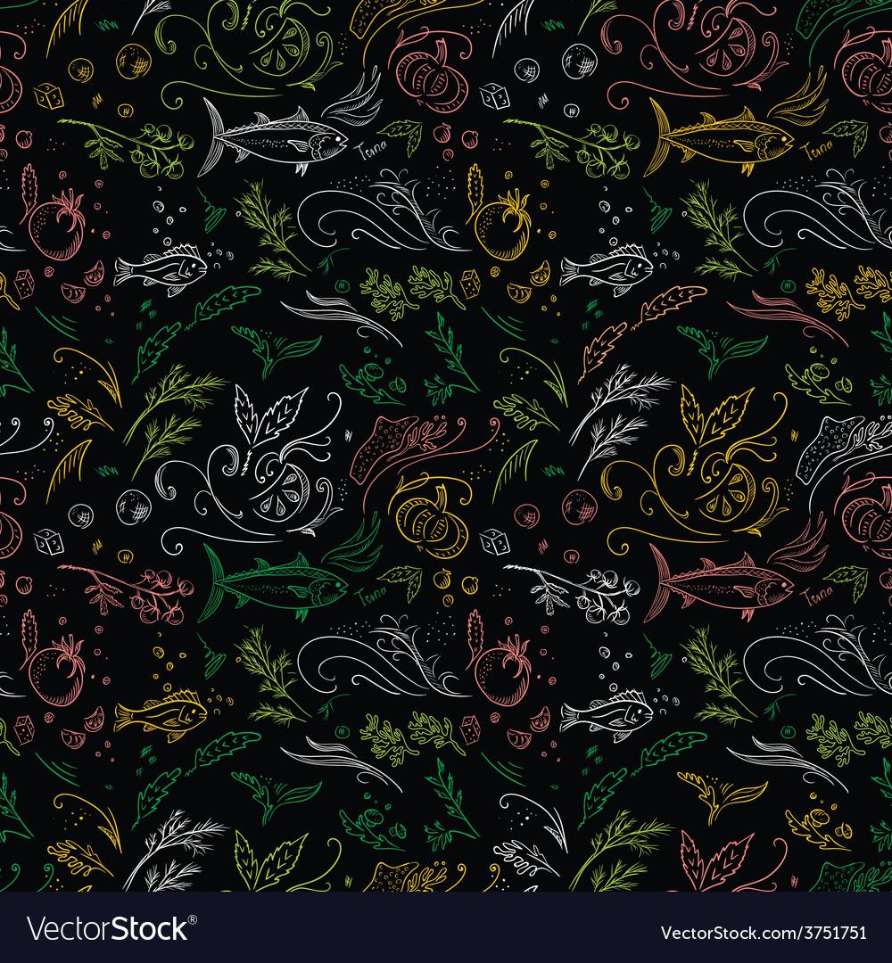 Black food pattern vector | Price: 1 Credit (USD $1)