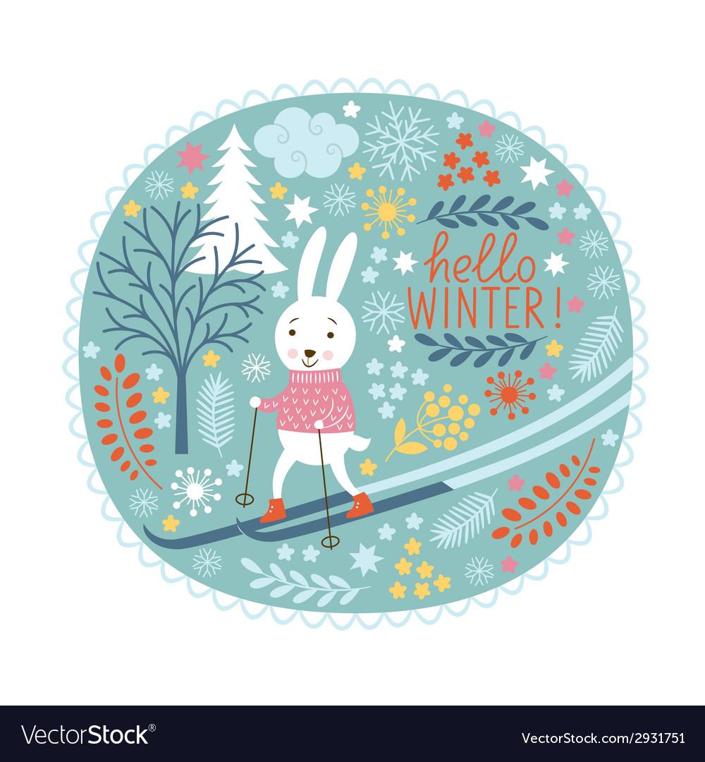 Christmas  christmas card vector | Price: 1 Credit (USD $1)