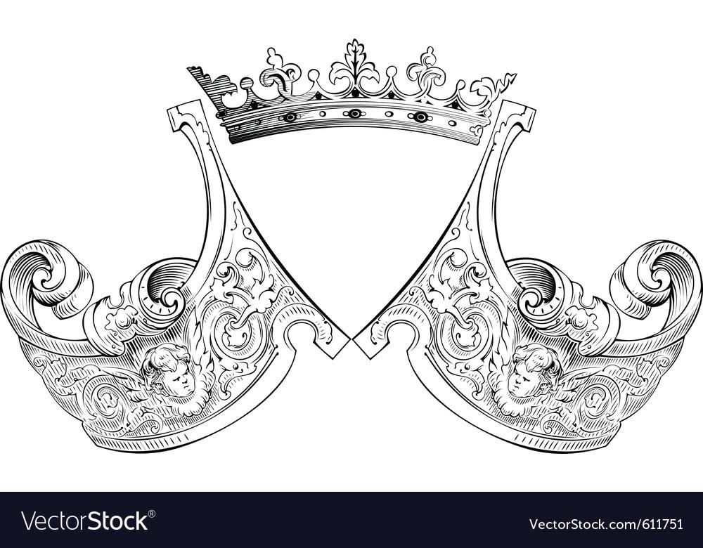 Crown heraldry composition vector | Price: 1 Credit (USD $1)