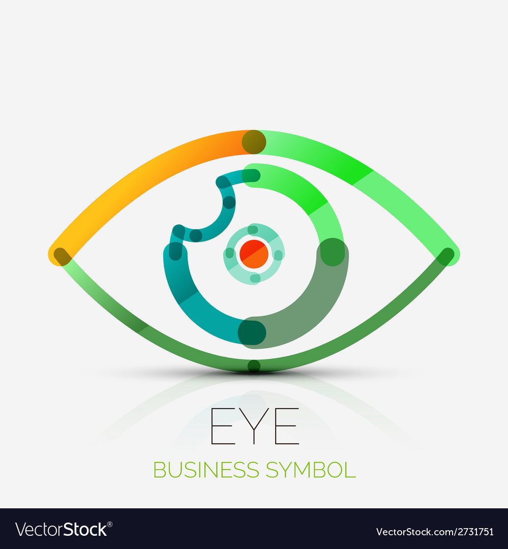 Humam eye company logo business concept vector | Price: 1 Credit (USD $1)