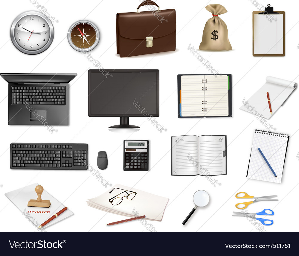 Office supplies vector   Price: 3 Credit (USD $3)