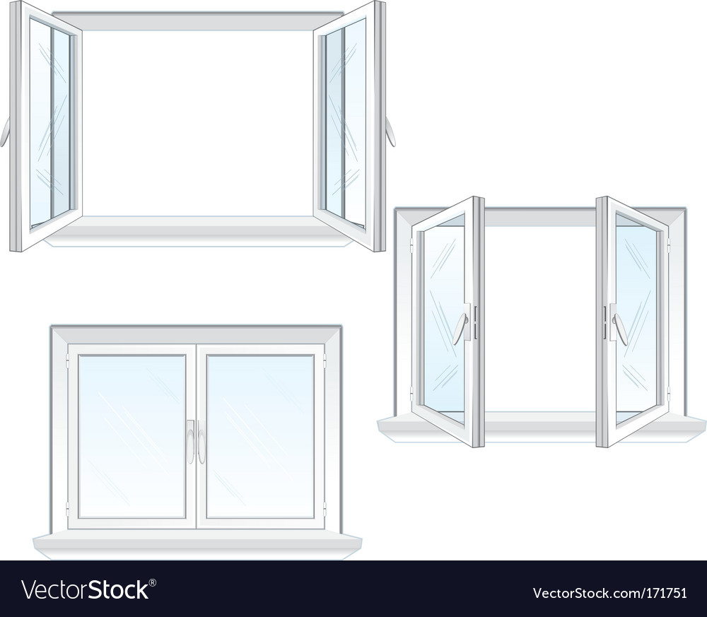 Plastic windows vector | Price: 1 Credit (USD $1)