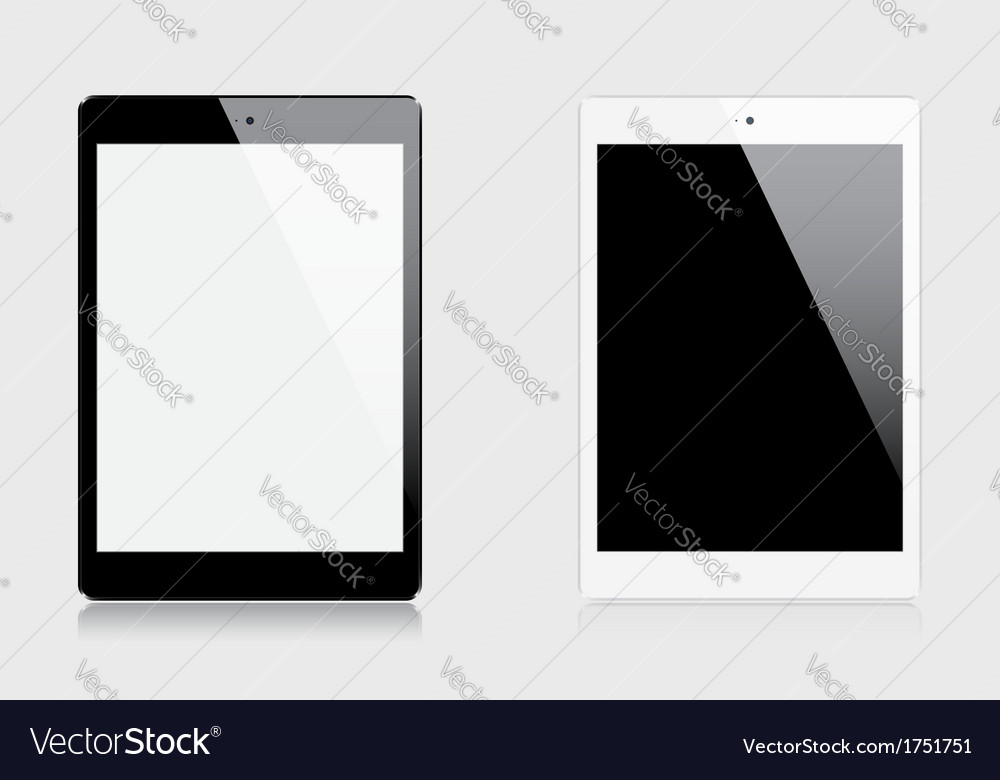 Realistic tablets vector | Price: 1 Credit (USD $1)
