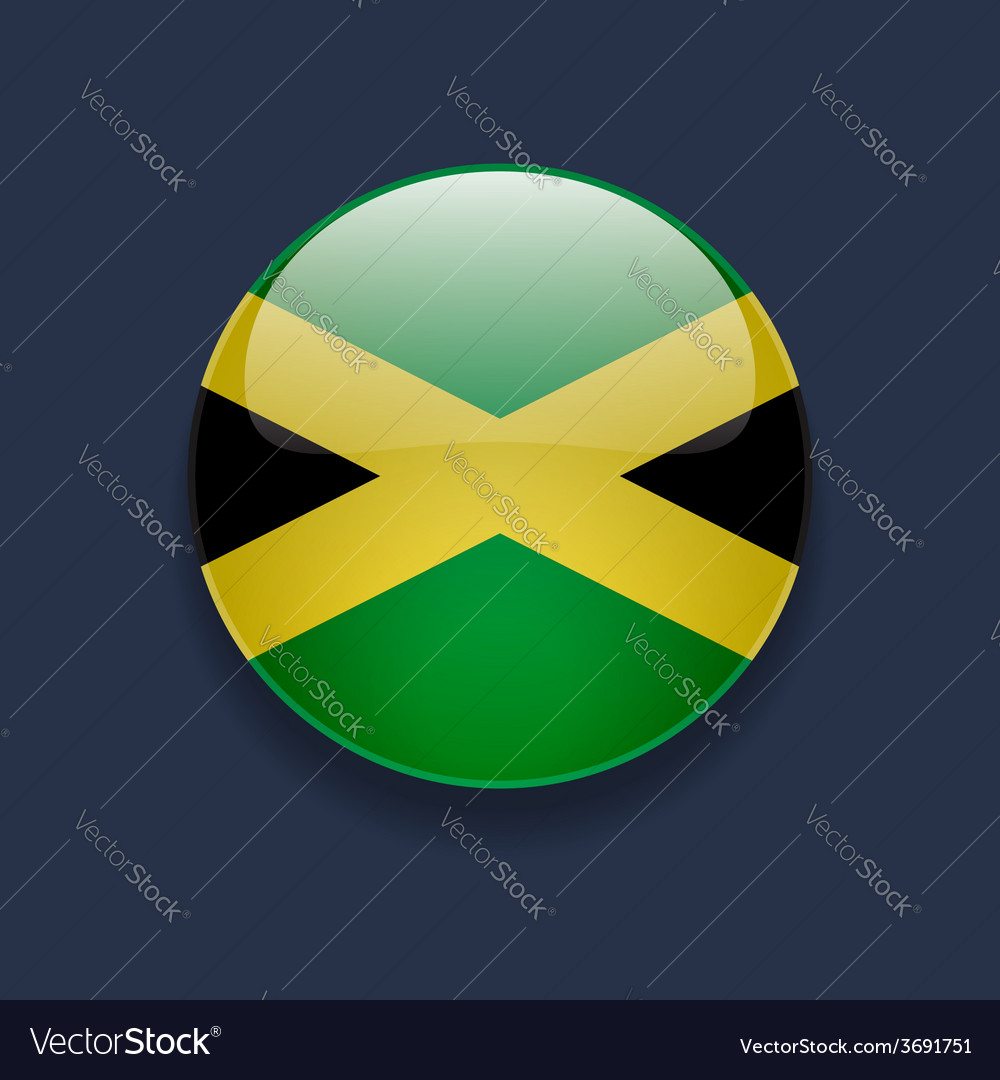 Round icon with flag of jamaica vector | Price: 1 Credit (USD $1)