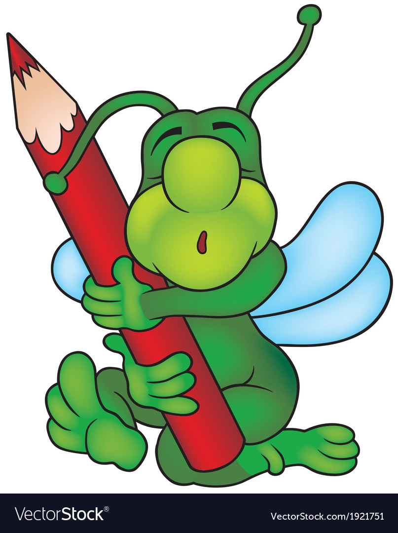 Sleeping bug painter vector | Price: 1 Credit (USD $1)