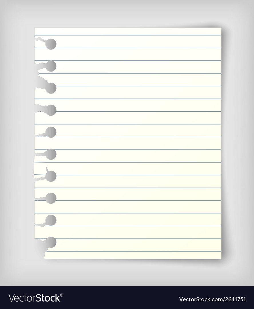 Small note paper sheet vector | Price: 1 Credit (USD $1)