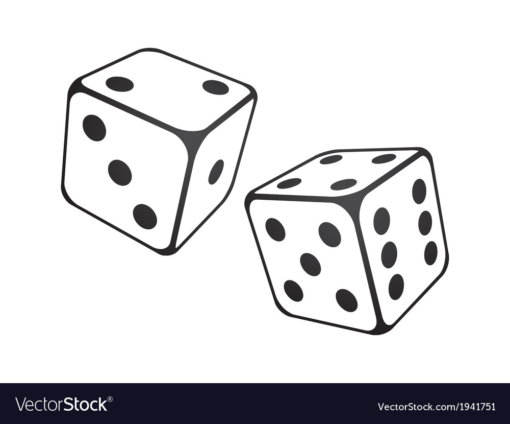 White dice vector | Price: 1 Credit (USD $1)