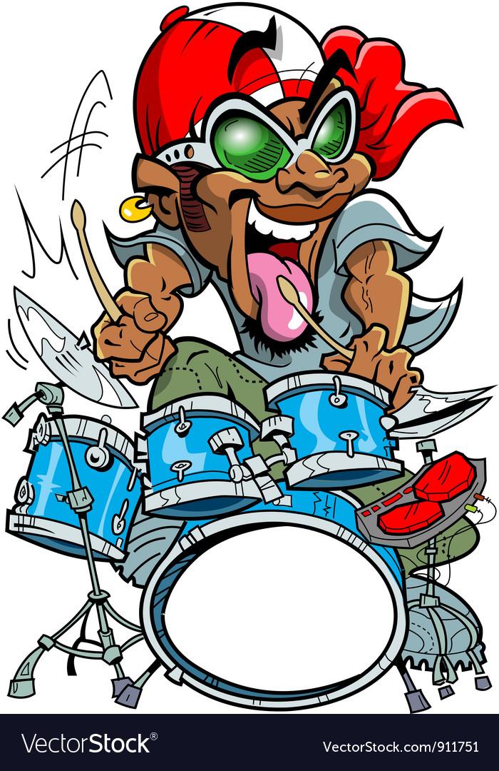 Wild drummer vector   Price: 5 Credit (USD $5)