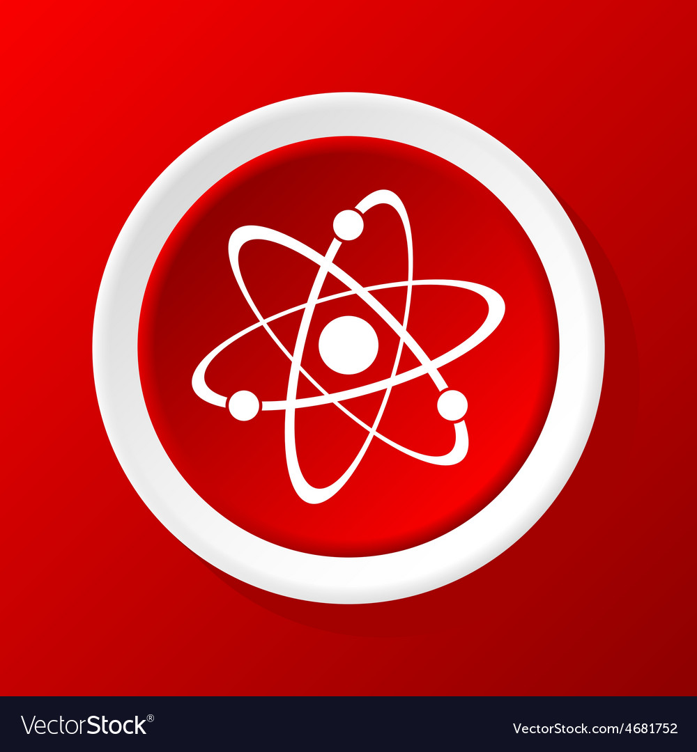 Atom icon on red vector | Price: 1 Credit (USD $1)