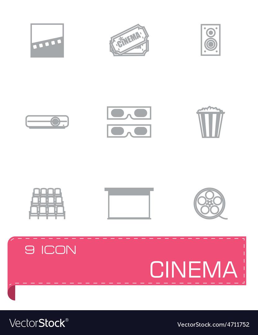 Cinema icon set vector | Price: 1 Credit (USD $1)