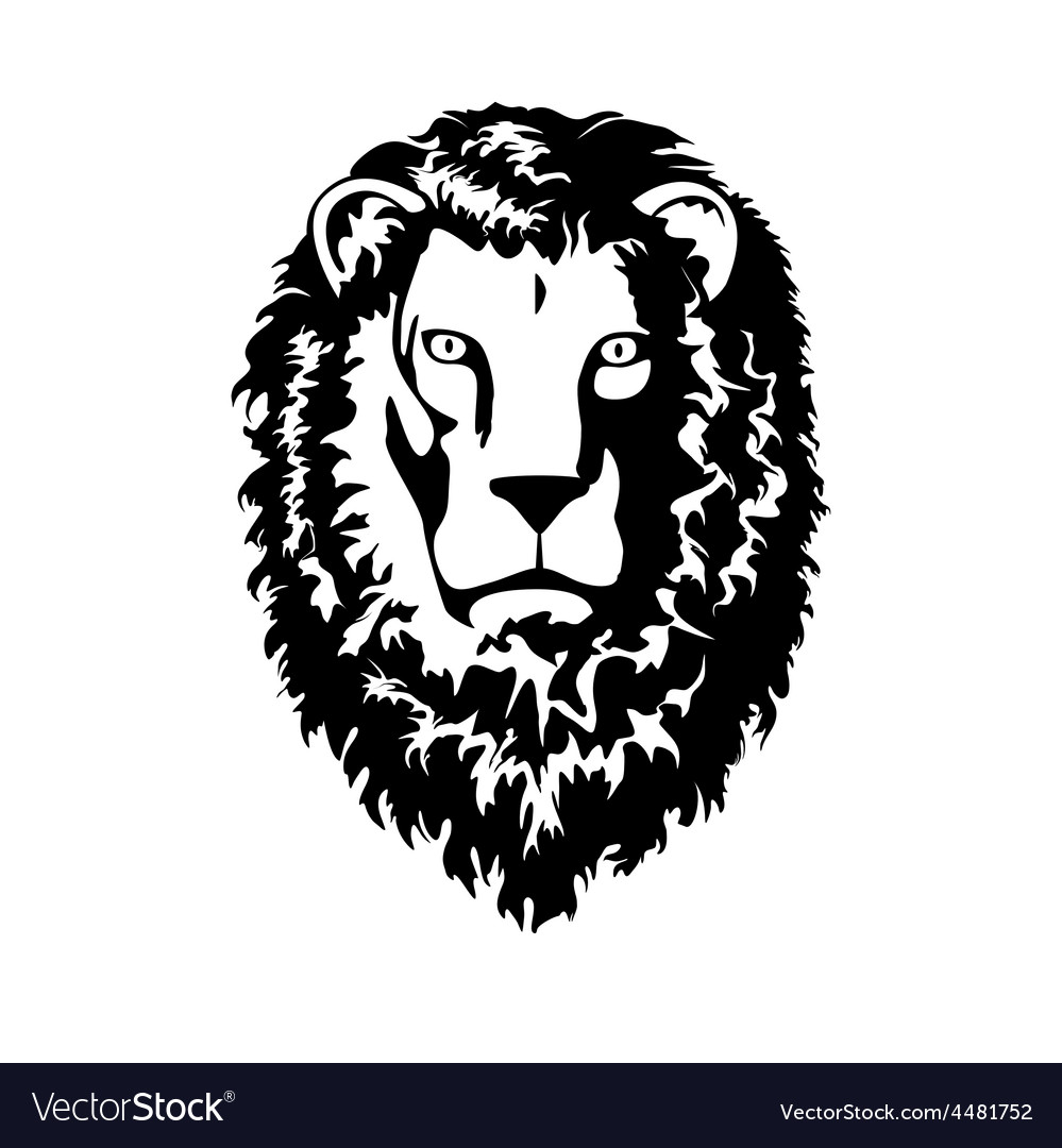 Head of lion vector | Price: 1 Credit (USD $1)