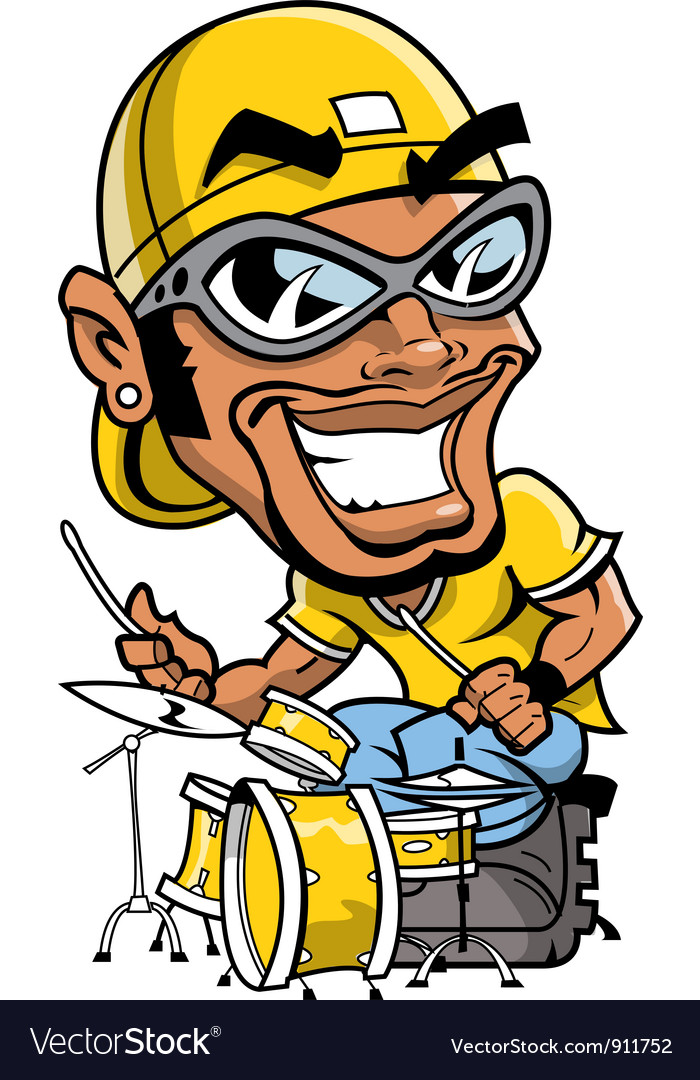 Hip hop drummer vector | Price: 5 Credit (USD $5)
