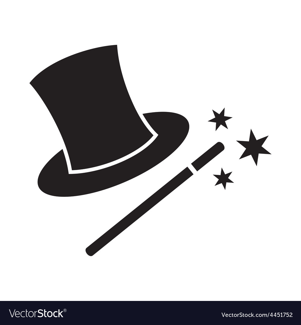 Magic wand and hat vector | Price: 1 Credit (USD $1)