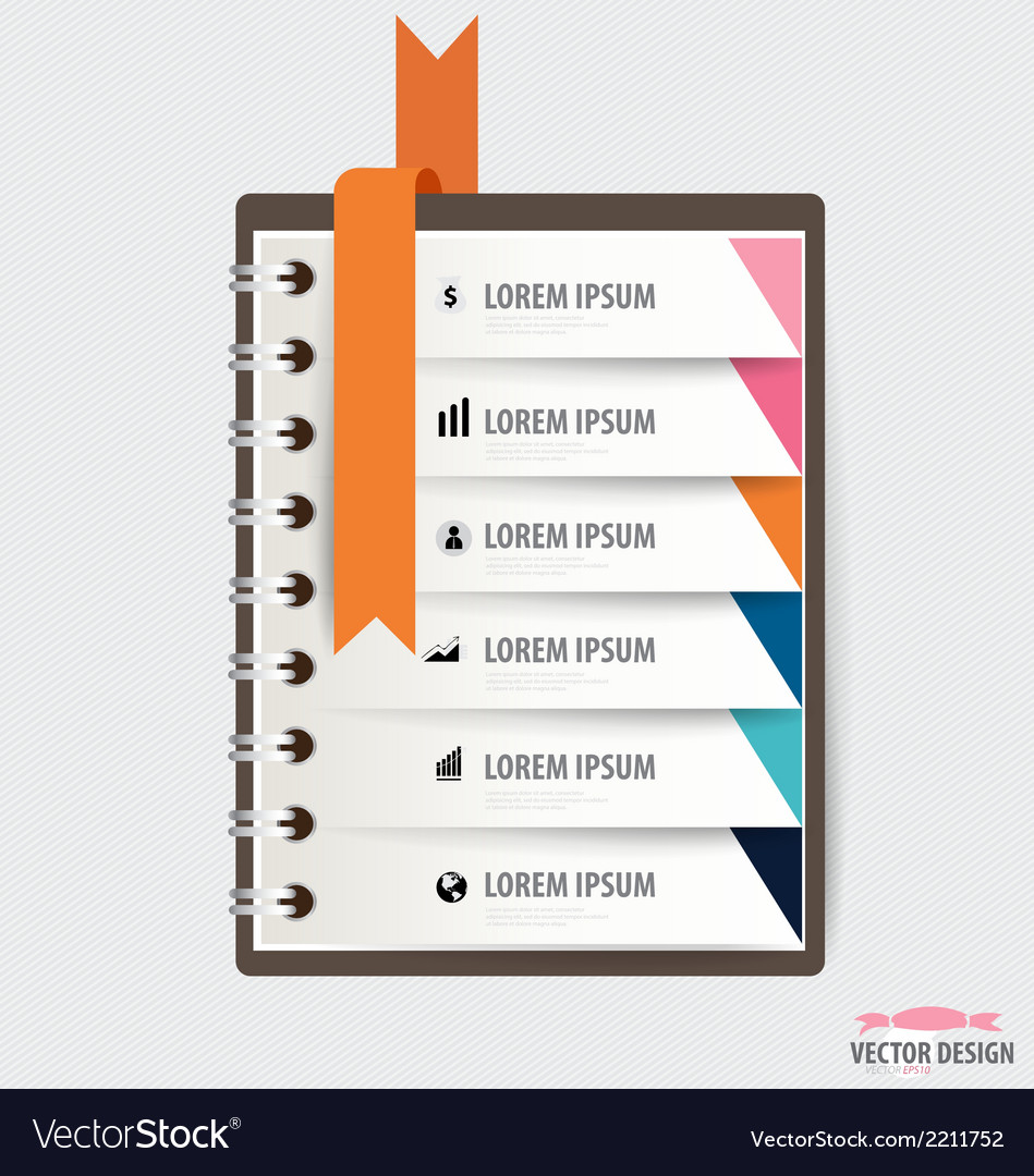 Modern design template of spiral notebook with vector | Price: 1 Credit (USD $1)