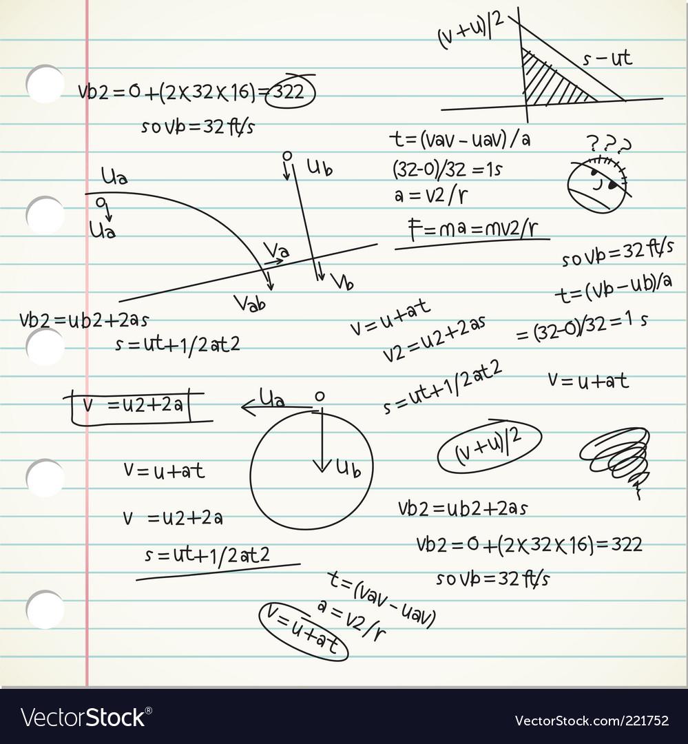 Physic formula vector | Price: 1 Credit (USD $1)