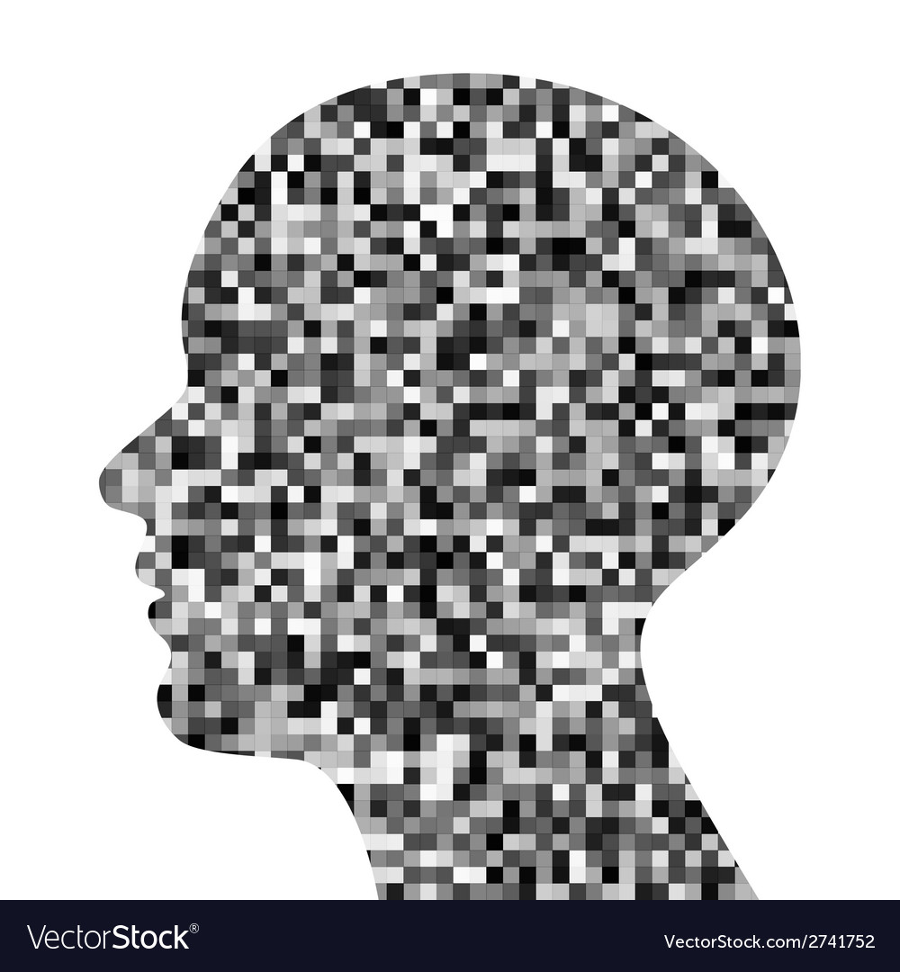 Pixeated profile icon vector | Price: 1 Credit (USD $1)