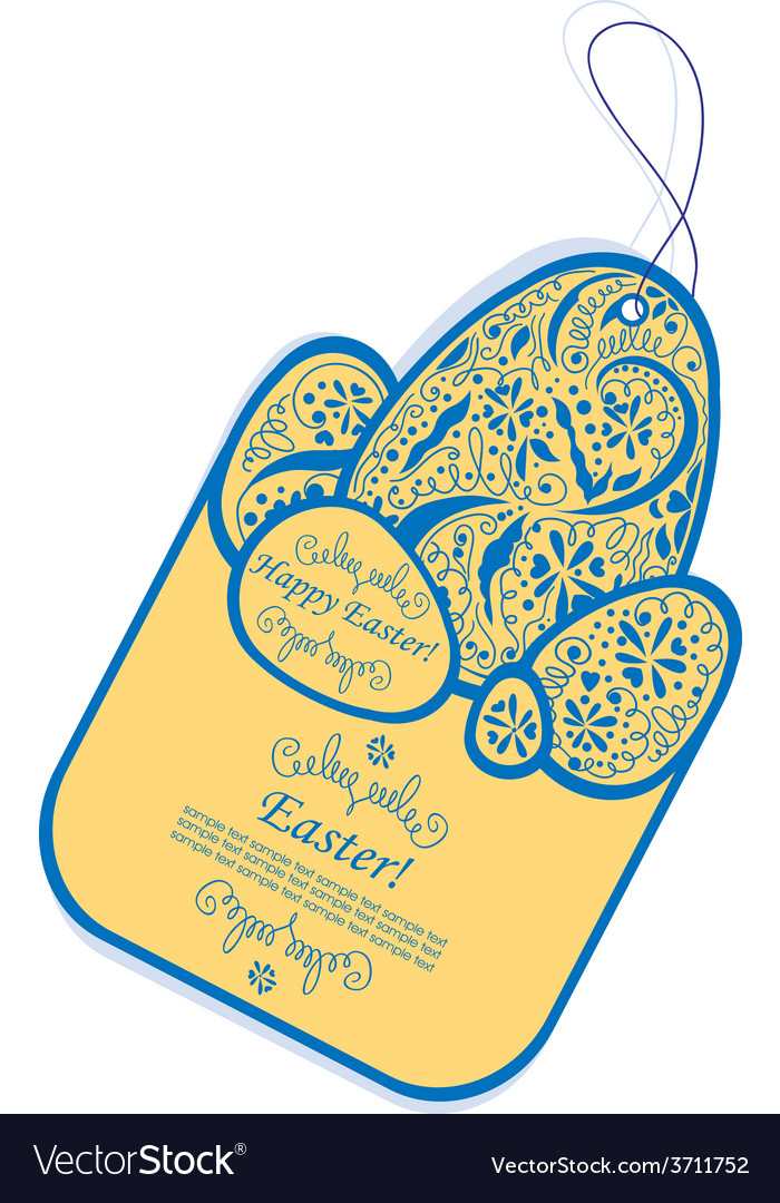 Vintage easter tag vector | Price: 1 Credit (USD $1)