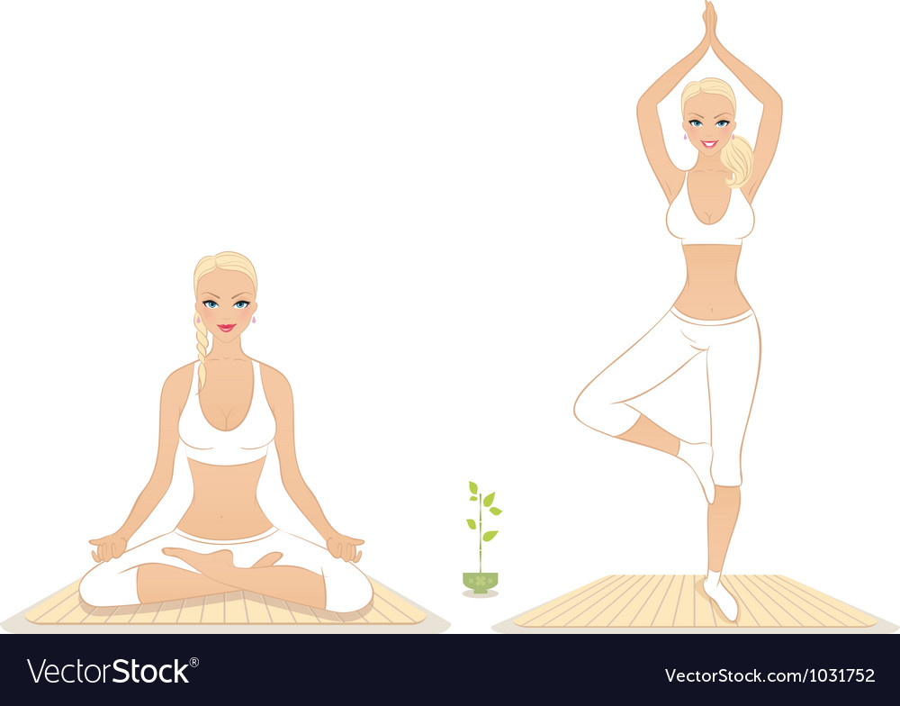 Yoga woman vector | Price: 1 Credit (USD $1)