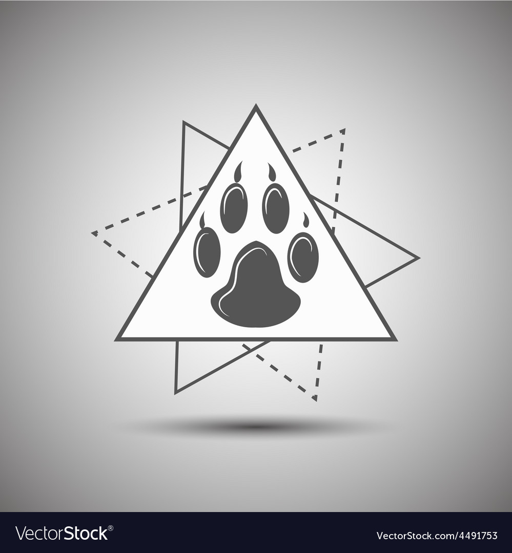 Animal footprint logo isolated on white background vector | Price: 1 Credit (USD $1)