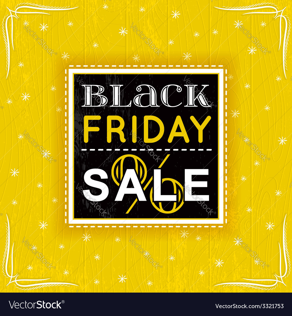 Black friday sale label vector | Price: 1 Credit (USD $1)