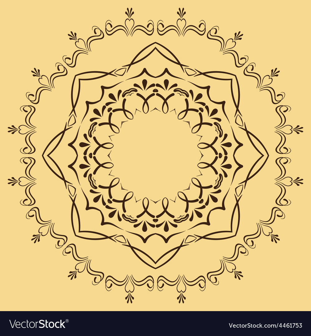 Circular abstract pattern in arabic style vector | Price: 1 Credit (USD $1)