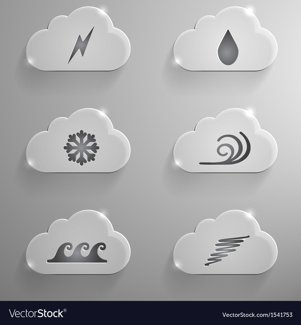 Cloud with 6 signs vector | Price: 1 Credit (USD $1)