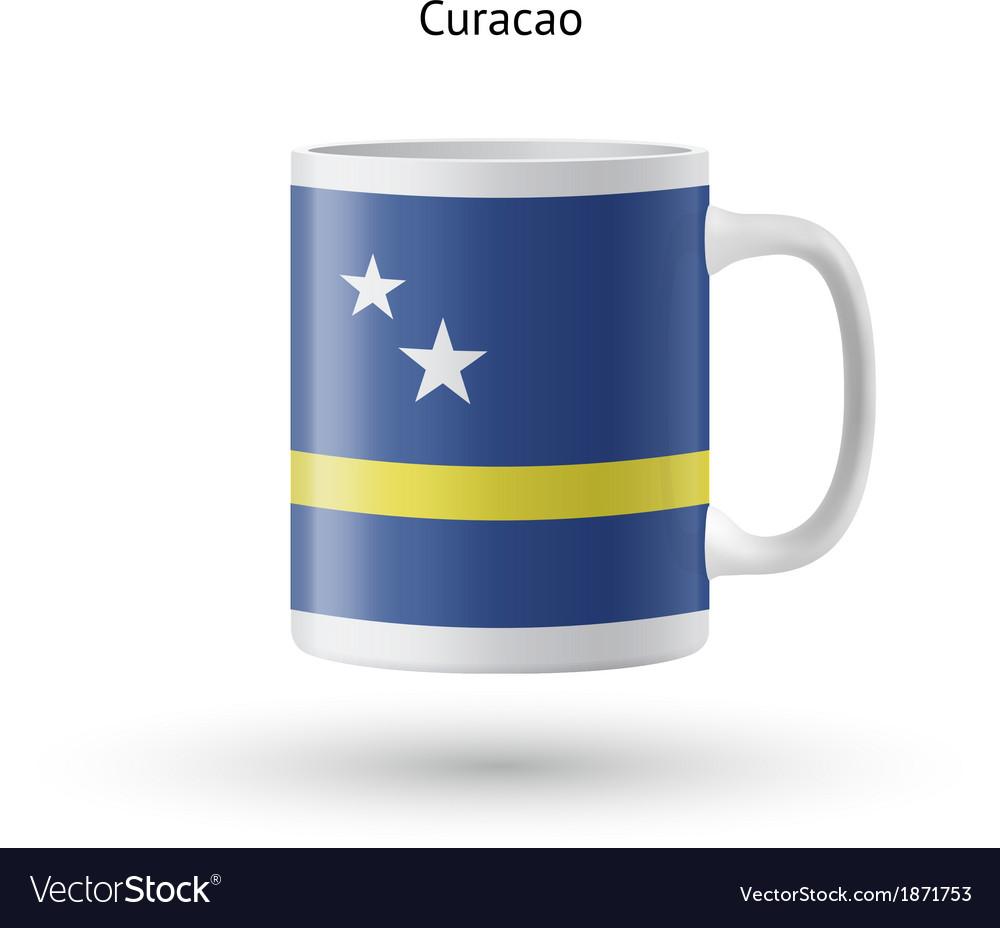 Curacao flag souvenir mug on white background vector | Price: 1 Credit (USD $1)