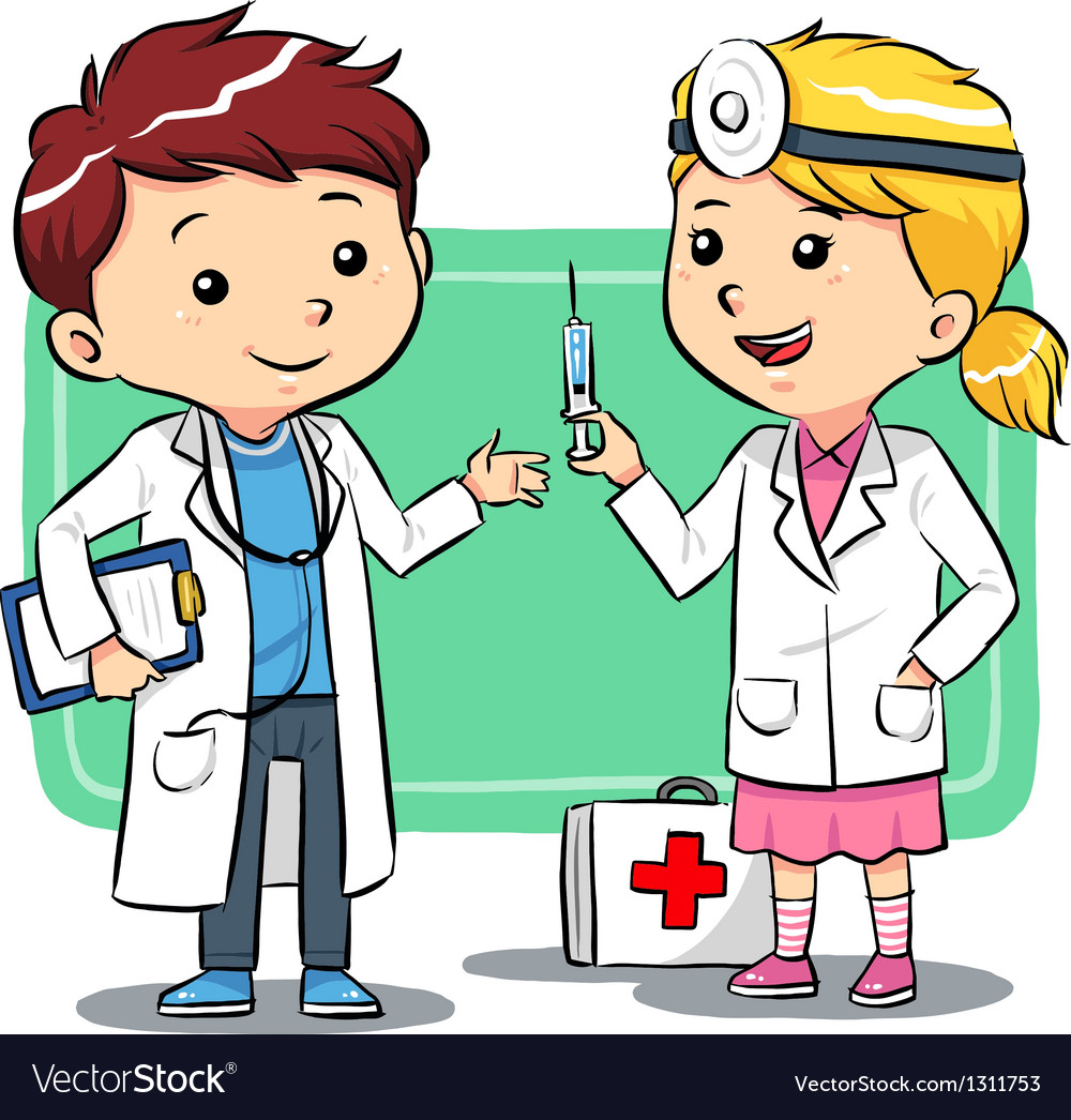 Doctor kids vector | Price: 1 Credit (USD $1)