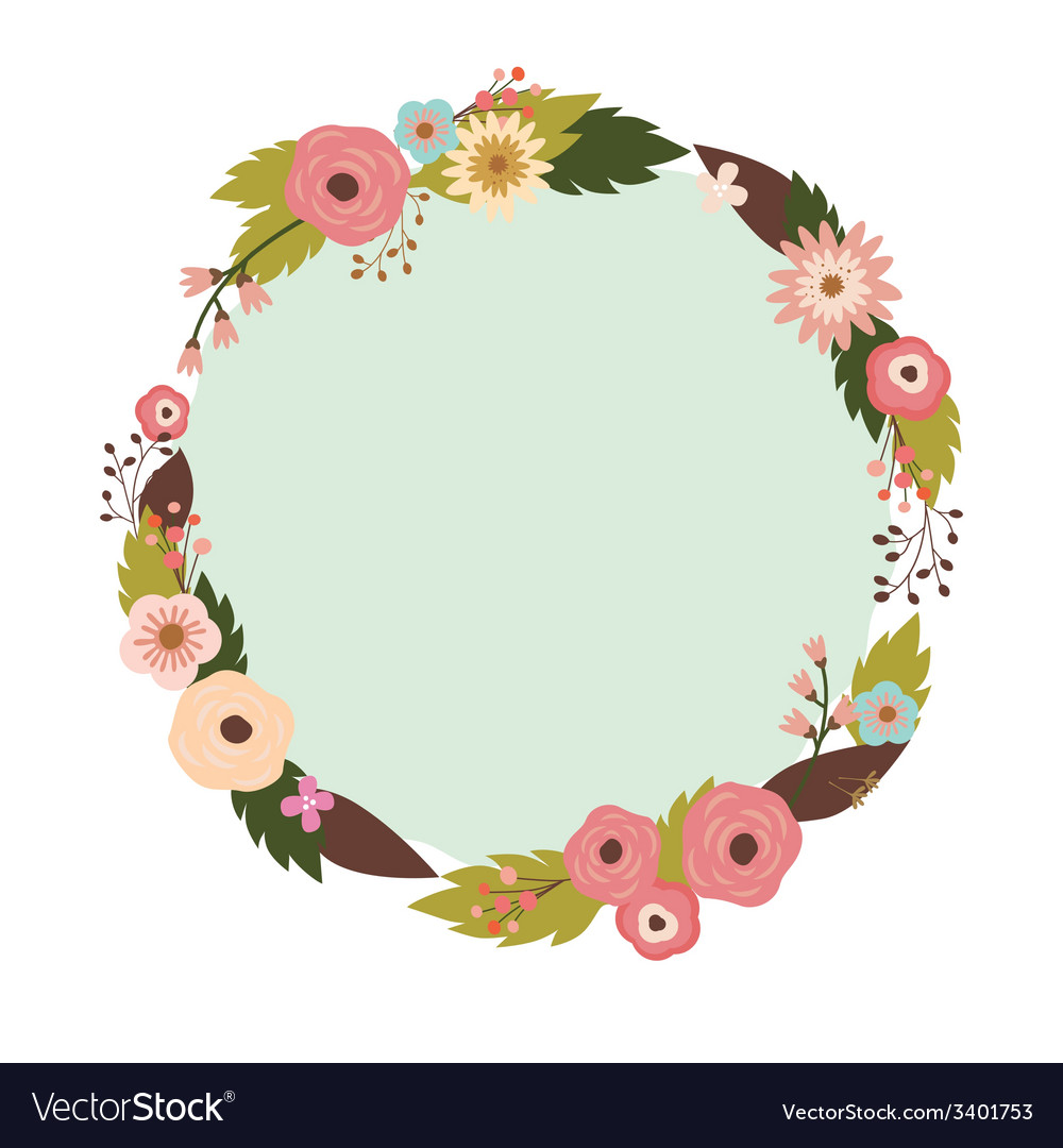 Elegant floral wreath vector | Price: 1 Credit (USD $1)