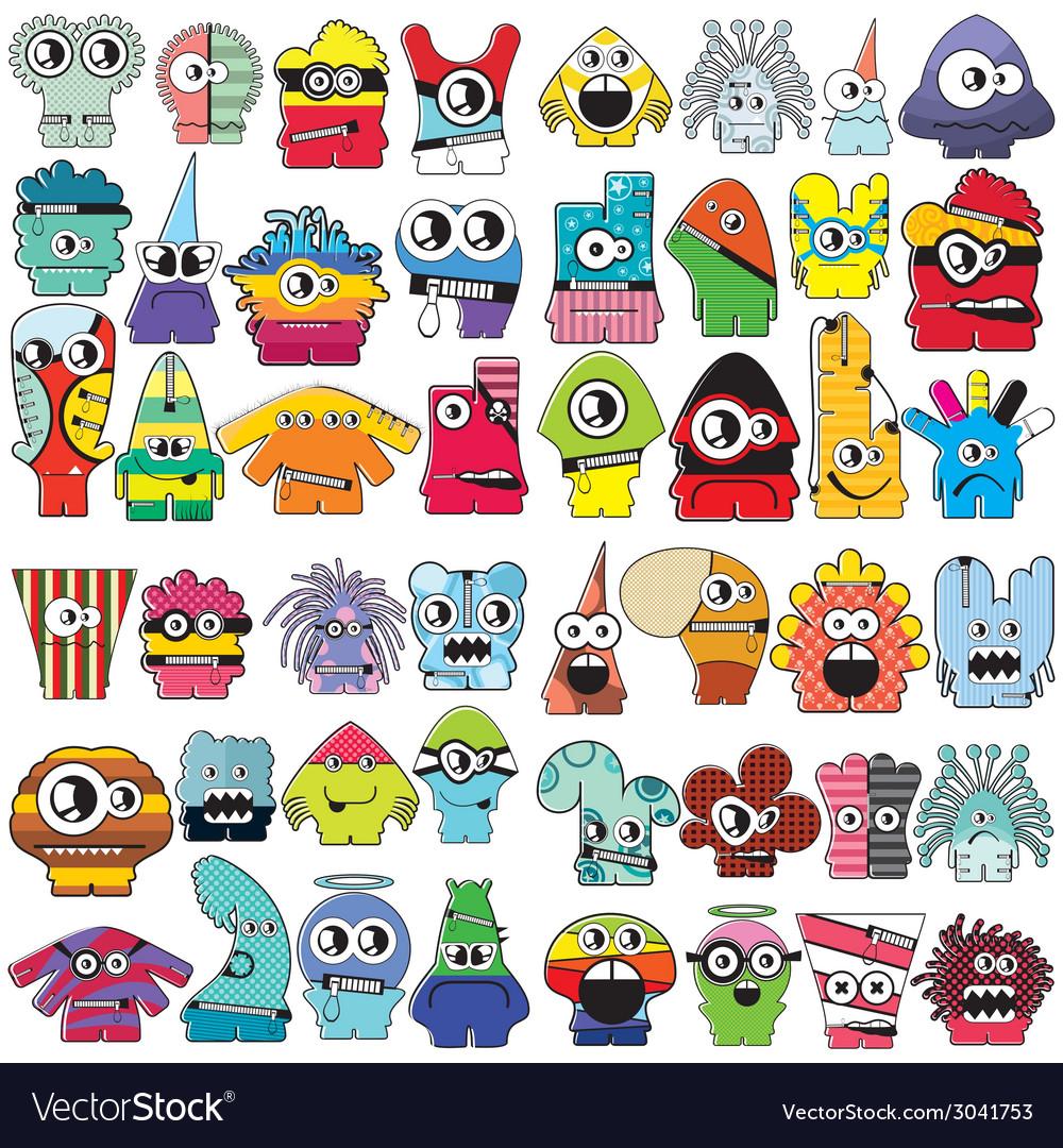 Monsters - set vector   Price: 1 Credit (USD $1)