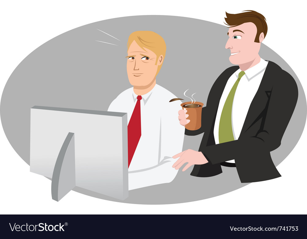 Office guy bothering vector | Price: 3 Credit (USD $3)