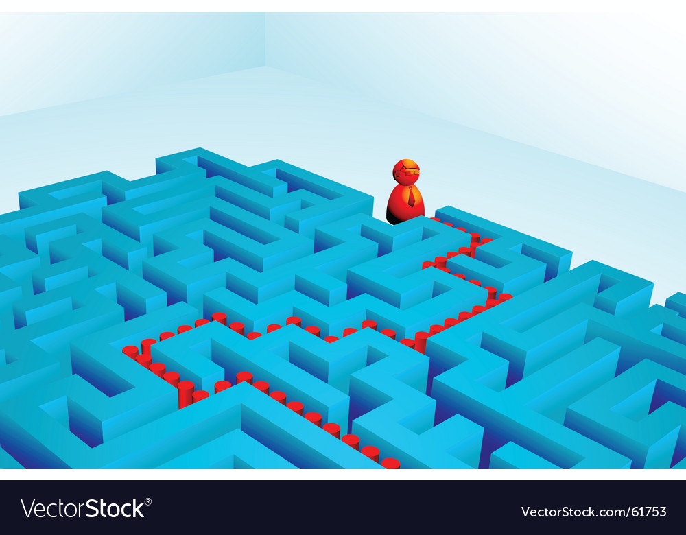Solved maze vector | Price: 1 Credit (USD $1)