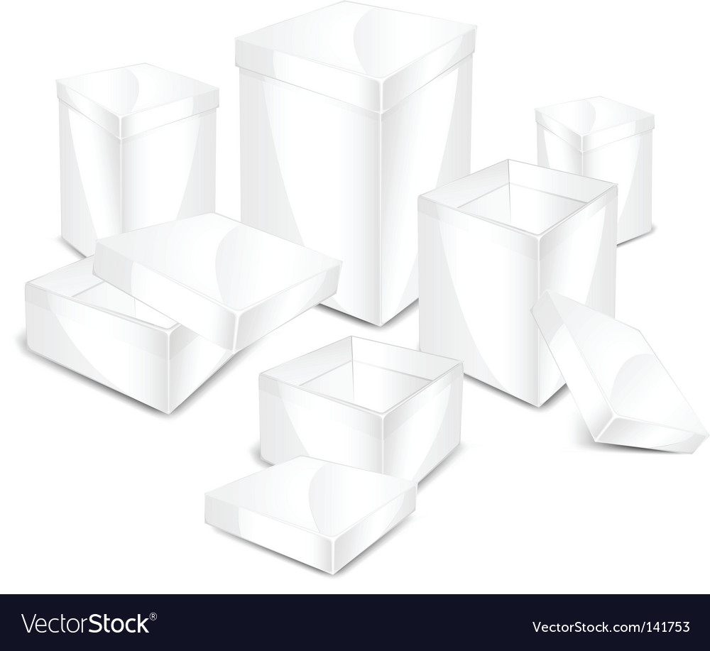 White boxes vector | Price: 1 Credit (USD $1)