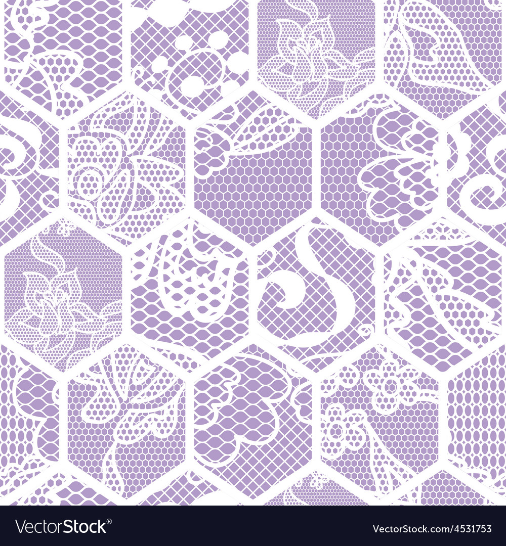 White lace fabric seamless pattern vector | Price: 1 Credit (USD $1)