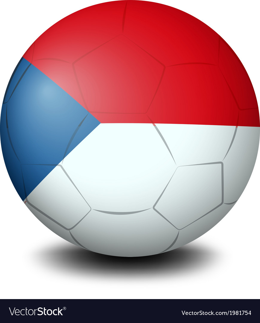 A soccer ball with the flag of czech republic vector   Price: 1 Credit (USD $1)