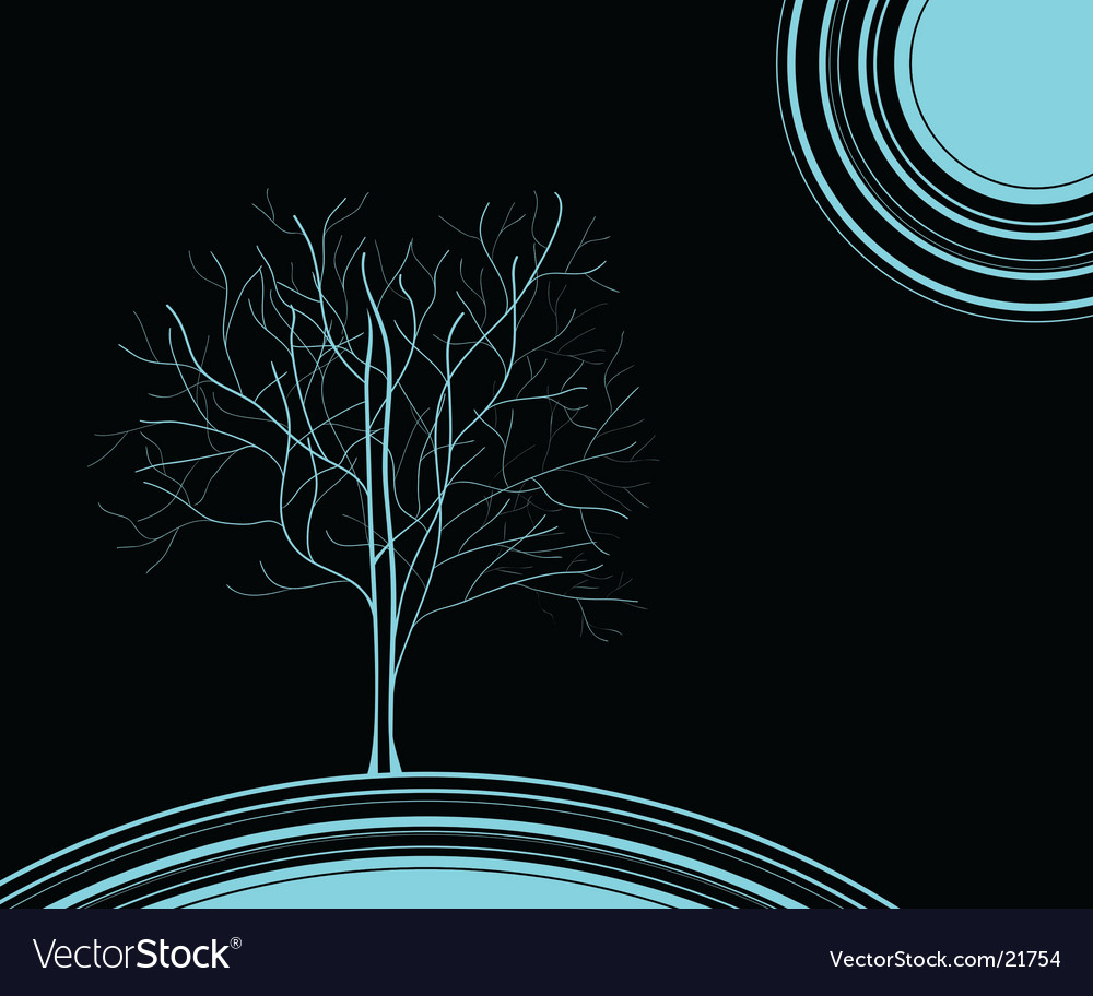 Blue tree vector | Price: 1 Credit (USD $1)